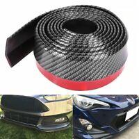 Car Front Spoiler Bumper Lip Chin Skirt Rubber Splitter Protector Carbon Fiber D