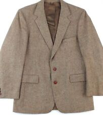 Levis Blazer Sport Coat 42R Men Wool Tweed 2 Button Single Vent Full Lined Brown