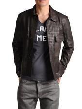 Diesel Black Gold Leather Laser Cut Jacket LASKILLO Brown EU50 Medium RRP £1250
