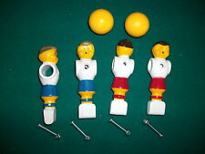 4 Four Replacement Foosball Fussball Men & 2 soccer balls w/ FREE Shipping