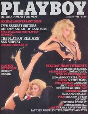 PLAYBOY JANUARY 1983 Twins Audrey & Judy Landers Lonny Chin Dudley Moore