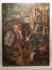 Bob Byerley - The Clubhouse - LE Hand Embellished Canvas Transfer