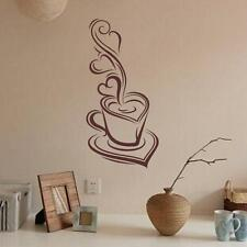 Coffee Removable Decal Art Vinyl Mural Home Room Decor Wall Stickers A1