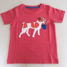 MINI BODEN Awesome Boy's Orange-Red DOG Shirt. 4-5 years NEW. EXCLUSIVE!