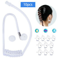10x TWIST ON CLEAR TUBE FOR SECURITY EARPIECE CLEAR COILED AIR TUBE FOR HEADSET