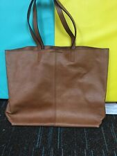 Womens Banana Republic Cognac Brown Soft Leather Tote