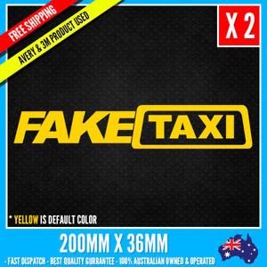 2pcs FAKE TAXI CAR Sticker Decal JDM DRIFT FUNNY STICKER NOTEBOOK WINDOW