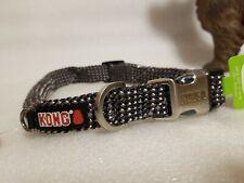 "New Kong Reflective Rope Dog Collar Medium Neck Size (15"" - 20"")  Grey Gray"