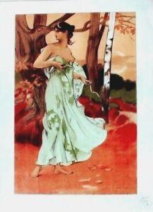 Original vintage print L'ESTAMPE MODERNE A.DONNAY 1897