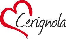 """Adesivo per auto """" CERIGNOLA """" (Città) cuore Sticker ca.9x15 cm taglio contorno"""