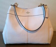 NWT Coach Lexy Shoulder Bag in Pebbled Leather Chalk, Gold Accents, $395 F57545