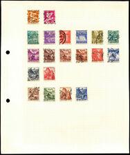 Switzerland Album Page Of Stamps #V4474