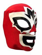 Mask Maniac Adult Lucha Libre Wrestling Mask - Red/White/Black