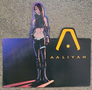 RARE Near-Perfect AALIYAH Sticker or Window Cling (Something with Backing) 2001
