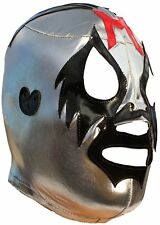 Mil Máscaras High Quality Lycra Lucha Libre Luchador Mask Adult Size Silver