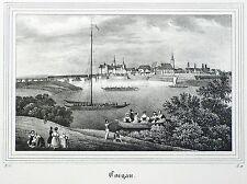 TORGAU - Gesamtansicht - Saxonia - Lithografie 1834/1835
