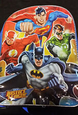 """Justice League 15"""" Backpack with Superman, Batman, Green Lantern and Flash"""
