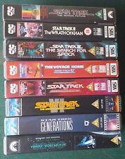 STAR TREK 8 Movie VHS run
