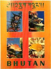 Bhutan 1969 blocco 20 S/S 100f Pesci Acquari Pesci Fish Sea Life fauna MNH