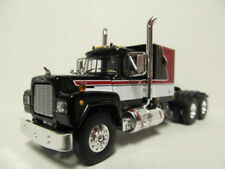 1ST GEAR 1/64 SCALE R MODEL MACK, SLEEPER CAB, RED, BLACK & WHITE,   DCP SCALE