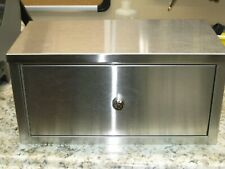 Omnimed Double Door Stainless Steel Narcotic Cabinet 16 X 8 X 8 New