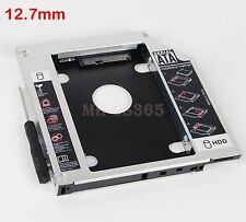 2nd HDD SSD SATA Hard Drive Caddy for HP Pavilion dv6 6b56-er swap GT31N DVD Bay