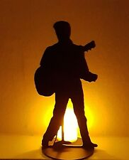 More details for elvis presley silhouette laser cut  perspex figure  music icon rock & roll