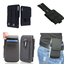 Man's Waist Bags Nylon Belt Pouch Card Wallet Black Soft Case Cover Holster
