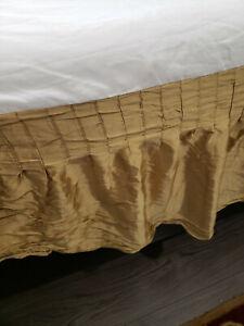 Court of Versailles Silk King Bed Skirt Gold