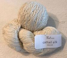Lot Purl Soho Cattail Silk Moon White Yarn Skein plus ball