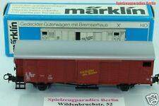 50 ) Märklin Spur H0 - 4698 Güterwagen gedeckt , mit Bremserhaus - in OVP