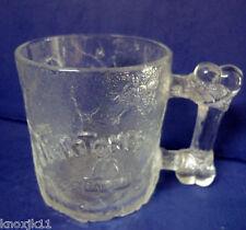 NEW 1993 FLINSTONES GLASS Coffee MUG McDonalds Cup Pre Dawn BONE HANDLE France!
