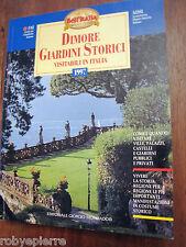 Dimore giardini storici visitabili in Italia FAI mondadori 1997 adsi guide italy