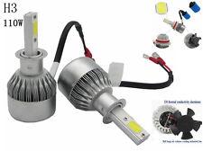 110W 9200LM COB CREE LED Car Headlight Lamp Kit H3 Globes Bulbs 6000k Light