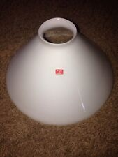 "HAND BLOWN  LAMP SHADE WHITE  Made In Italy 2 1/4"" Fitter 9 1/4"" Shade (3 Avail)"