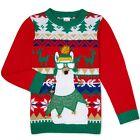 HOLIDAY TIME Boy's size XL(14-16) Husky UGLY CHRISTMAS SWEATER Llama ~ New