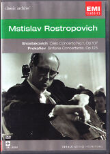 DVD: Mstislav ROSTROPOVICH: SHOSTAKOVICH PROKOFIEV Cello Cocerto Rostropowitsch