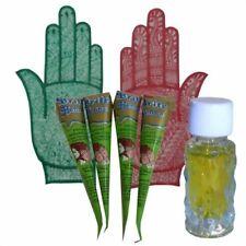 Henne pasta + olio set per dipingere piccole mani colorante tatuaggi Mehandi