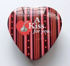 Hershey's Kisses Heart Shape Collection Tin Empty Small Box - A Kiss for You