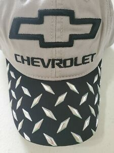 GM CHEVROLET LOGO CAP NWT ADJUSTABLE SNAP CLOSURE CURVED BILL, RELAXED FABRIC