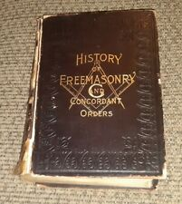 ANTIQUE Masonic History of Freemasonry and Concordant Orders book Circa.1899 OLD