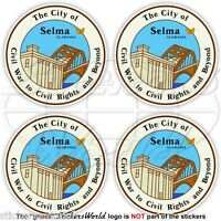 "SELMA CITY Seal, Dallas County Alabama USA American 50mm (2"") Stickers Decals x4"