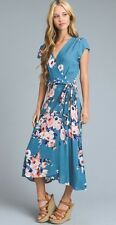 Women's Le Lis Floral Wrap Dress Stitch Fix Spring Summer L LARGE  U.S.A