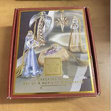 Lenox For The Holidays Set of 5 Crystal Nativity Ornaments Christmas - 16244
