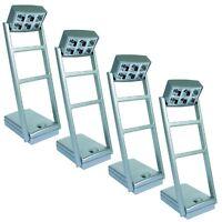 TIPP-KICK Flutlicht Set 4 Stück Flutlicht LED Licht Anlage Masten beweglich