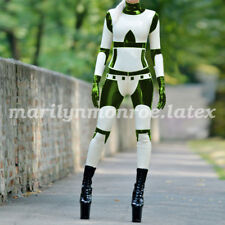 2018 Latex Rubber Handsome Racing Suit Bodysuit Tights Catsuit Size XXS-XXL