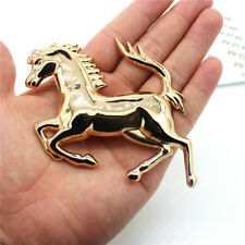 Ferrari Emblem Metal Horse Logo Car Gold 3D Bumper Badge Sticker Left Decal x1