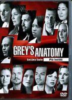 Grey's Anatomy - Serie TV - 7^ Stagione - Cofanetto Con 6 Dvd - Nuovo Sigillato