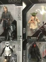 """4X SET Star Wars The Black Series  6"""" Action Figures Archive Wave 2 - IN STOCK!"""