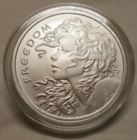 2018 Silver Shield 1oz Freedom Girl .999 Fine Silver Round Coin in CAPSULE